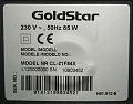 GoldStar CL-21F81X : sticker